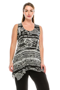 Jostar Women's HIT Side Drop Tank Tunic Print-230HT-TRP1-W901 - Jostar Online