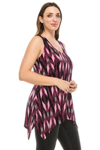 Jostar Women's HIT Side Drop Tank Tunic Print, 230HT-TP-W918 - Jostar Online
