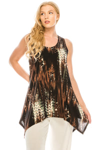 Jostar Women's HIT Side Drop Tank Tunic Print-230HT-TRP1-W944 - Jostar Online