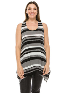 Jostar Women's HIT Side Drop Tank Tunic Print-230HT-TRP1-W974 - Jostar Online