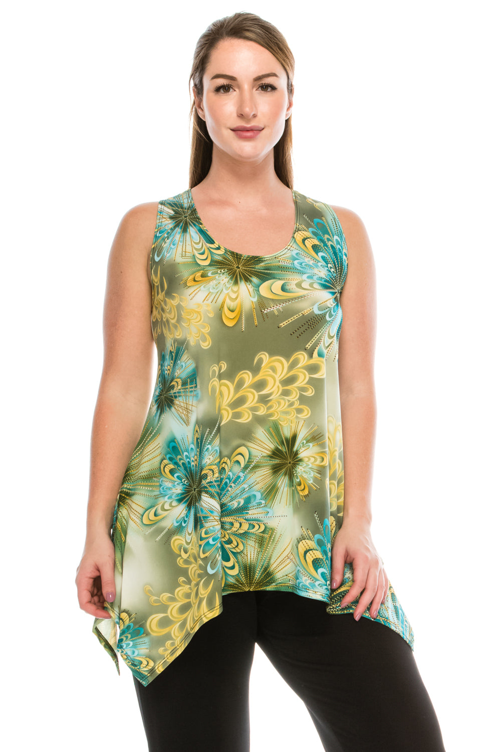Jostar Women's HIT Side Drop Tank Tunic Plus Print, 230HT-TXP-W124 - Jostar Online