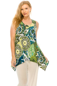 Jostar Women's HIT Side Drop Tank Tunic Plus Print, 230HT-TXP-W199 - Jostar Online