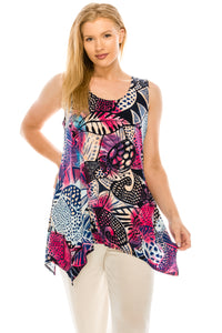 Jostar Women's HIT Side Drop Tank Tunic Plus Print, 230HT-TXP-W204 - Jostar Online