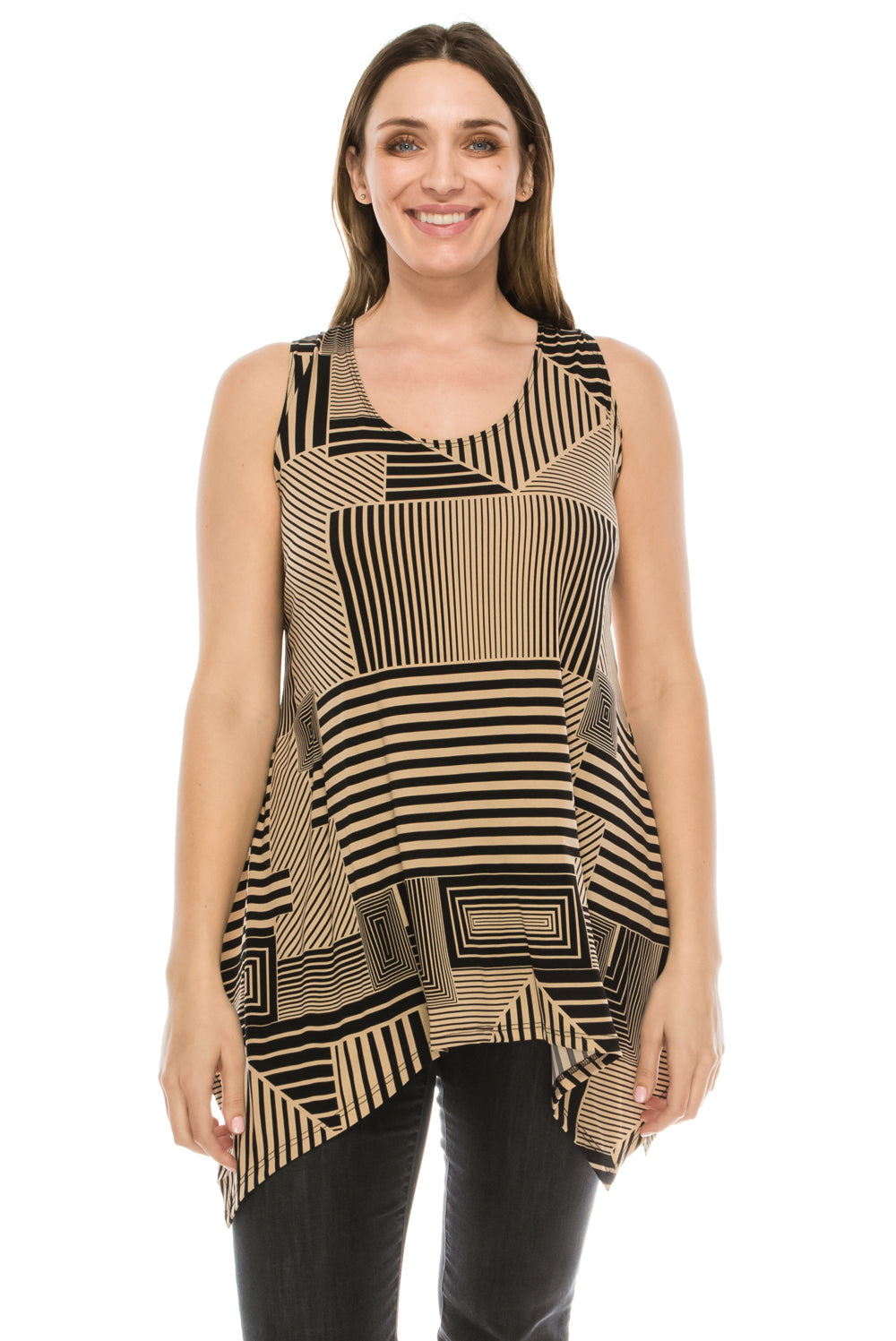 Jostar Women's HIT Side Drop Tank Tunic Plus Print, 230HT-TXP-W911 - Jostar Online
