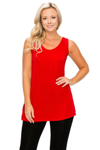 Jostar Women's Stretch Vented Tunic Tank Sleeveless, 241BN-T - Jostar Online