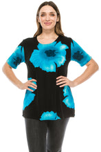Load image into Gallery viewer, Jostar Women's Stretchy Vented Tunic Top Short Sleeve Plus, 242BN-SXP-W113 - Jostar Online