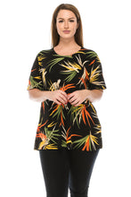 Load image into Gallery viewer, Jostar Women's Stretchy Vented Tunic Top Short Sleeve Plus, 242BN-SXP-W679 - Jostar Online