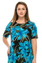 Load image into Gallery viewer, Jostar Women's Stretchy Vented Top Short Sleeve Printed, 242BN-SP-W683 - Jostar Online