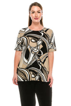 Load image into Gallery viewer, Jostar Women's Stretchy Vented Tunic Top Short Sleeve Plus, 242BN-SXP-W009 - Jostar Online