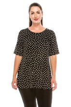 Load image into Gallery viewer, Jostar Women's Stretchy Vented Tunic Top Short Sleeve Plus, 242BN-SXP-W032 - Jostar Online