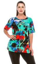 Load image into Gallery viewer, Jostar Women's Stretchy Vented Tunic Top Short Sleeve Plus, 242BN-SXP-W081 - Jostar Online