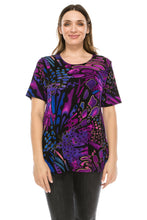 Load image into Gallery viewer, Jostar Women's Stretchy Vented Tunic Top Short Sleeve Plus, 242BN-SXP-W207 - Jostar Online