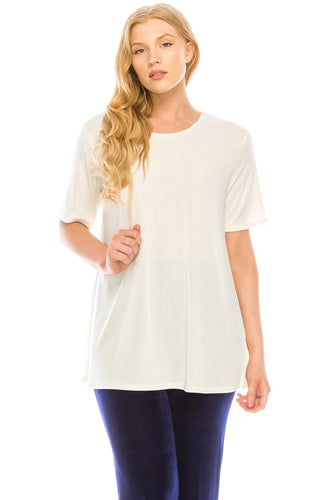 Stretch Short Sleeve Vented Top -242BN-S - Jostar Online