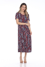 Load image into Gallery viewer, Jostar Women's Stretchy Long Dress Short Sleeve Plus Plus, 702BN-SXP1-W247