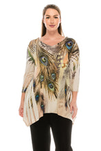 Load image into Gallery viewer, Jostar Women's HIT V-Neck Binding Top 3/4 Sleeve Sublimation Rhinestones, 313HT-QU-R-U052 - Jostar Online
