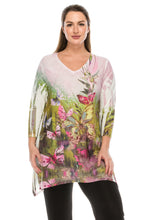 Load image into Gallery viewer, Jostar Women's HIT V-Neck Binding Top 3/4 Sleeve Sublimation Plus, 313HT-QXU-R-U160 - Jostar Online
