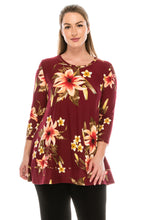 Load image into Gallery viewer, Jostar Women's HIT Bottom Layered Top 3/4 Sleeve Print, 326HT-QP-W089 - Jostar Online