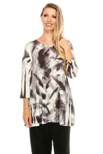 Load image into Gallery viewer, Jostar Women's Slub HIT Bottom Layered Top 3/4 Sleeve Sublimation Rhinestone, 326HT-QU-R-U177 - Jostar Online