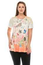 Load image into Gallery viewer, Jostar Women's HIT Slub Bottom Layered Top Short Sleeve Sublimation Rhinestone, 326HT-SU-R-U134 - Jostar Online