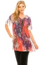 Load image into Gallery viewer, Jostar Women's HIT V-Neck Straight Bottom Top Short Sleeve Sublimation, 343HT-SU-R-U170