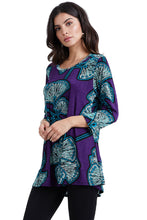 Load image into Gallery viewer, Jostar Women's Stretchy Merrow Top 3/4 Sleeve Print Plus, 158BN-QXP-W076 - Jostar Online