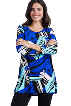 Load image into Gallery viewer, Jostar Women's Stretchy Round Nk Band Tunic Top Quarter Sleeve Print, 345BN-QXP-W037 - Jostar Online