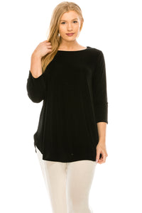 Jostar Women's Stretch Rounded Bottom Tunic Top, 346BN-Q - Jostar Online