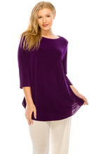 Load image into Gallery viewer, Jostar Women's Stretch Rounded Bottom Tunic Top, 346BN-Q - Jostar Online