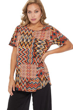 Load image into Gallery viewer, Jostar Women's HIT Rounded Bottom Tunic Top Short Sleeve Print, 346HT-SXP-W229