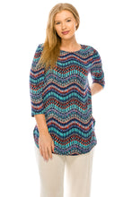 Load image into Gallery viewer, Jostar Women's HIT Rounded Bottom Tunic TopQuarter Sleeve Print Plus, 346HT-QXP-W191 - Jostar Online