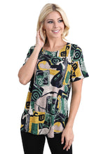 Load image into Gallery viewer, Jostar Women's HIT Rounded Bottom Tunic Top Short Sleeve Print, 346HT-SP-W217 - Jostar Online