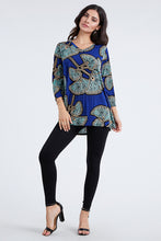 Load image into Gallery viewer, Jostar Women's Stretchy V-Nk Binding Tunic Top Quarter Sleeve Print-347BN-QXP1-W076
