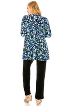 Load image into Gallery viewer, Jostar Women's Stretchy V-Nk Binding Tunic Top Quarter Sleeve Print347BN-QXP1-W196