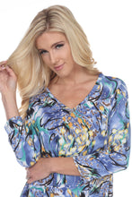 Load image into Gallery viewer, Jostar Women's Hit V-Neck Binding Tunic Top Quarter Sleeve Print, 347HT-QP-W084 - Jostar Online