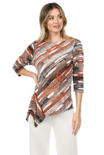 Load image into Gallery viewer, Jostar Women's HIT Asymmetric Drop Top Quarter Sleeve Print, 349HT-QP-W244 - Jostar Online