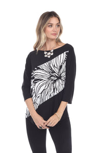Jostar Women's HIT Center Drop Top Quarter Sleeve Contrast Print, 350HT-QPC-W218 - Jostar Online