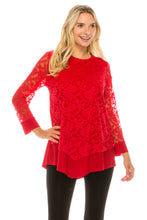 Load image into Gallery viewer, Lace Overlay Center Top, 355LA-LDC - Jostar Online