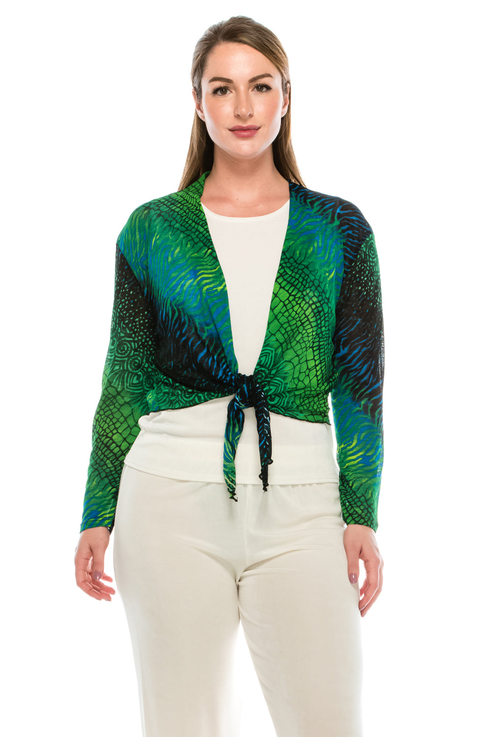 Jostar Women's Onion Skin Long Sleeve Bolero Long Sleeve Print, 422SK-LP-W182 - Jostar Online