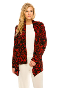 Jostar Women's Stretchy Print Mid Cut Jacket Long Sleeve Print, 428BN-LP-W172 - Jostar Online