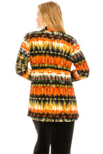 Load image into Gallery viewer, Jostar Women's Stretchy Print Mid Cut Jacket Long Sleeve Print Plus, 428BN-LXP-W174