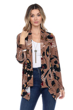 Load image into Gallery viewer, Jostar Women's Stretchy Print Mid Cut Jacket Long Sleeve Print, 428BN-LP-W239 - Jostar Online