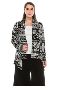 Jostar Women's Stretchy Print Mid Cut Jacket Long Sleeve Print, 428BN-LP-W901 - Jostar Online
