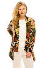 Load image into Gallery viewer, Jostar Women's Stretchy Print Mid Cut Jacket Long Sleeve Print Plus, 428BN-LXP-W168 - Jostar Online