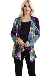 Jostar Women's Stretchy Print Mid Cut Jacket Long Sleeve Print Plus, 428BN-LXP-W182 - Jostar Online