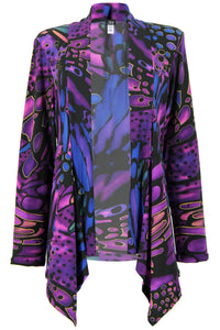 Jostar Women's Stretchy Print Mid Cut Jacket Long Sleeve Print Plus, 428BN-LXP-W182