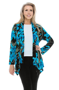 Jostar Women's Stretchy Print Mid Cut Jacket Long Sleeve Print Plus, 428BN-LXP-W679