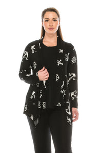 Jostar Women's Stretchy Print Mid Cut Jacket Long Sleeve Print Plus, 428BN-LXP-W981 - Jostar Online