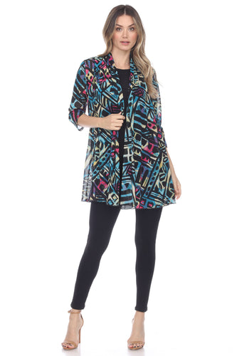 Jostar Women's MR Princess Jacket Print Quarter Sleeves, 472MR-QP-W256 - Jostar Online