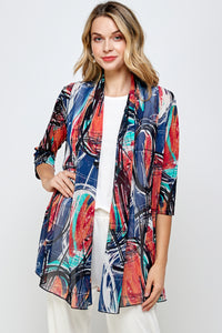 Jostar Women's MR Princess Jacket Print Quarter Sleeves, 472MR-QRP1-W279