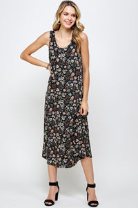 Jostar Women's Stretchy Long Tank Dress Print-700BN-TRP1-W296